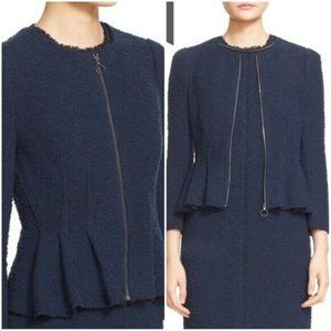 Rebecca Taylor Zip-Front Boucle Tweed Blue s.12